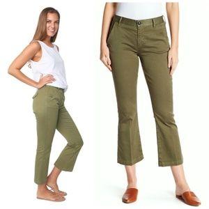 FRAME Le Mini Boot Crop Kick Flare Chino Pants 25